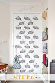 diy block printed style door decals