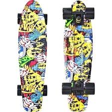 "<b>Скейтборд</b> RT <b>Y</b>-<b>Scoo Fishskateboard</b> Print <b>22</b>"" с сумкой арт. 401G ..."