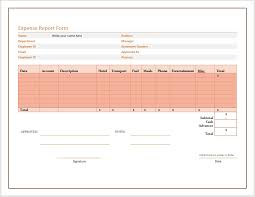 Expense Report Forms Free Free Expense Report Form Word Templates For Free Download