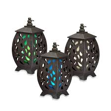 bed bath and beyond lighting. garden meadow solar scroll rounded wooden lanterns bed bath u0026 beyond and lighting 0
