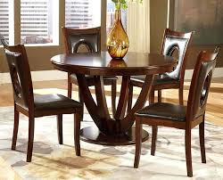 round wood dining table set solid wood round dining table keyhole parson chairs wood dining table