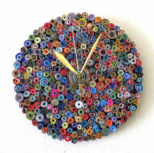 wall clocks made of reclaimed & recycled materials
