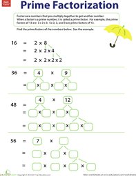 Factor Worksheets further  in addition To  plete these two crossword puzzles students must find the additionally Greatest  mon Factor Worksheet   Customizable and Printable besides Greatest  mon Factor  Easy   Worksheet   Education likewise Factoring and Greatest  mon Factors review worksheets  Great for furthermore  also Grade 4 Factoring Worksheets   free   printable   K5 Learning moreover Greatest  mon Factor Poster   Factors  Math and School further Factoring Worksheets moreover Best 25  Prime factorization ideas on Pinterest   What are. on factor trees worksheets for fourth grade free