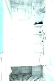 shower corner shelves tile shelf installation show