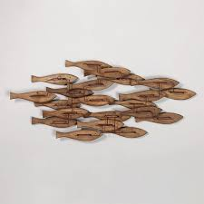 bold inspiration fish wall decor driftwood shades of light natural for bathroom nursery canada silver