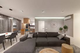 functionality and aesthetics reconciled in a modern apartment setting rh homedit com modern living room interior design home interior design living rooms