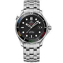 omega watches quality swiss watches ernest jones watches omega seamaster diver rio 2016 men s stainless steel watch product number 4981669