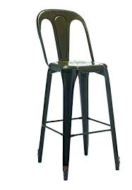 gray leather counter stools with backs bar metal nailhead