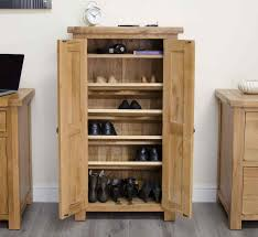 shoe furniture. original rustic solid oak furniture shoe storage cupboard
