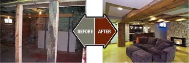 Old Homes Before And After Finished Basement Company Basement Custom Remodel Basements