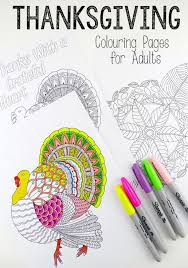 Leaf Mandala Thanks Giving Turkey Colouring Pages For Grown Ups