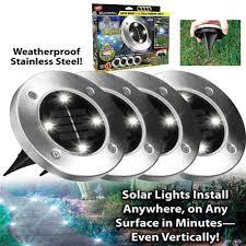 Disk Lights Solar Bell Howell Solar Disk Lights 8 Led Garden Stair Light