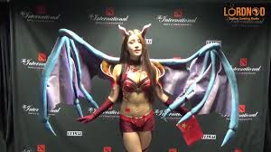 dota 2 ti4 queen of pain cosplay coub gifs with sound