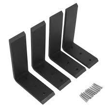 4 heavy duty black steel 6 x8 countertop support brackets corbel lot l