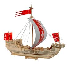 como 3d wooden puzzle pirate ship model construction kit by como for toys in australia