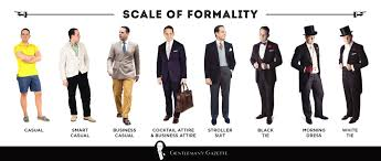 Humble cloth home of the most stock of designer inspired fabric. The Formality Scale How Clothes Rank From Formal To Informal