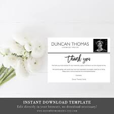 Funeral Words For Cards Custom Funeral Thank You Cards With Photo Funeral Thank You Cards Etsy
