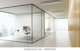 office glass door. Unique Office Side View Of Office Interior With Blank Whiteboard Behind Glass Doors  Hallway Concrete Floor With Office Glass Door L
