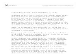 literature essay on hamlets revenge through branagh and the bbc document image preview