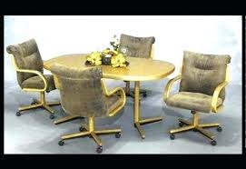amazing swivel dining room chairs with casters 2941 regarding remodel 18