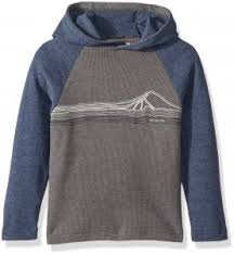 Columbia Little Boys Trulli Trails Waffle Hoodie Grill Collegiate Navy Xs