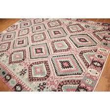 kilim area rug southwestern design tribal area rug multi geometric jute and wool kilim sarafina area