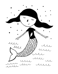 mermaid wall art on little black girl wall art with mermaid wall art little girls nursery print mini learners