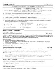 Inventory Control Resume Mesmerizing Inventory Resume Description