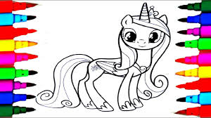 Learn Colors By Coloring Princess Cadance Coloring Books L