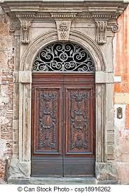 very old beautiful door in italy csp18916262