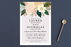 classic floral wedding invitations by alethea and ruth minted