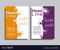 Book Design Templates Flyers Report Brochure Cover Book Design Template Vector Image