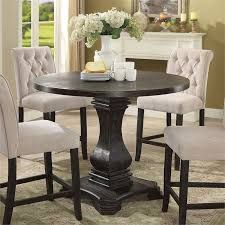 furniture of america selene pedestal counter height dining table idf 3840rpt