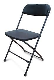 folding chairs plastic. Folding Plastic Chairs - Black. Image 1