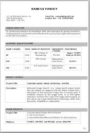 best resume for freshers