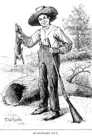 jim s sense of love and humanity in huckleberry finn by mark drawing of huckleberry finn a rabbit and a gun by ew kemble from the
