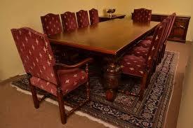 harrods oak dining room suite refectory table 10 chairs ref no 04016c regent antiques