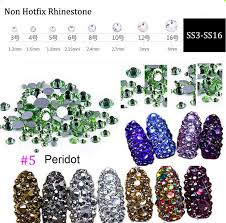 <b>1440pcs SS3-SS16 Nail Art</b> flat back nail rhinestones Non Hot Fix ...