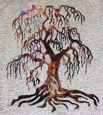 weeping willow metal wall art tree 24 tall on metal wall art trees willow with weeping willow metal wall art tree 24 tall 49 99 picclick