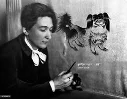 Hilda Richter-LaskanzyMalerin Dhat einen Hund gemalterschienen ...