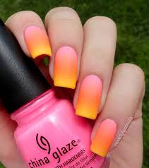 summer neon grant nail art by cidylynn on cidy lynn nails grants china glaze shocking pink orly orange punch and bettina yellow