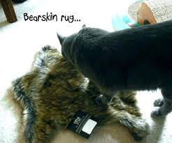 faux bear skin rug s rugs for fake with head uk
