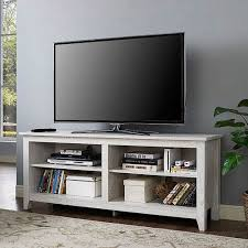 58inch White Wash Wood TV Stand White And Wood Tv Stand N49
