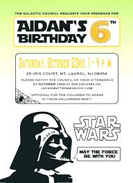 Star Wars Party Invitation Templates Cute Animated Birthday