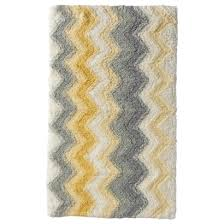 collection in yellow and gray bath mat yellow chevron bath rug roselawnlutheran