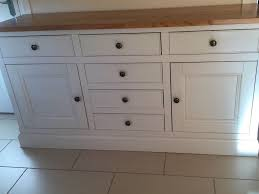 Kitchen Sideboard Sideboard Cream With Solid Oak Top Excellent Condition Ideal In