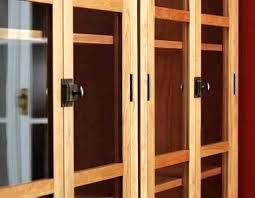 wooden shelves with doors real wood