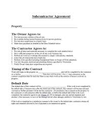 Legal Contract Gorgeous Need A Subcontractor Agreement 44 Free Templates HERE