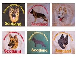 german shepherd embroidery designs
