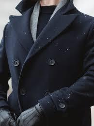 navy blue pea coat jacket men hm the good standard 3